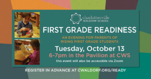 First Grade Readiness open house at the Charlottesville Waldorf School on Tuesday October 13 2020